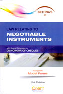 Law Relating to Negotiable Instruments