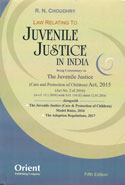 Law Relating To Juvenile Justice In India