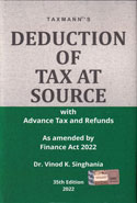 Deduction of Tax at Source With Advance Tax and Refunds as Amended by Finance Act 2018