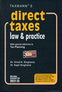 Direct Taxes Law and Practice With Special Reference to Tax Planning Assessment Year 2019-20