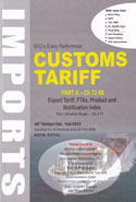 Easy Reference Customs Tariff Imports With IGST 2018-19 Vol I