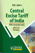 Central Excise Tariff of India With Commodity Index 2017-18