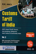 Customs Tariff of India 2017-18 In 2 Vols