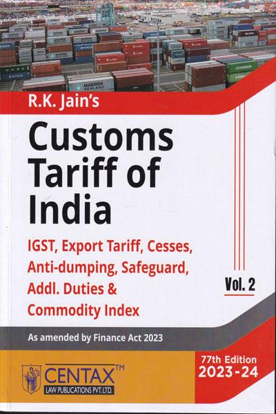 Customs Tariff of India In 2 Vols