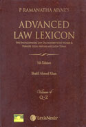 Advanced Law Lexicon In 4 Vols
