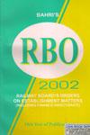 Railway Boards Orders on Establishment Matters 2002