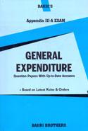 General Expenditure Appendix III A Exam