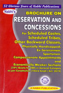 Brochure on Reservation and Concessions for Scheduled Castes Scheduled Tribes Other Backward Classes Physically Handicapped Ex Servicemen Sportsmen Compassionate Appointments and Economically Weaker Sections