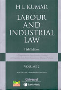 Labour and Industrial Law In 2 Vols With Free Case Law Referencer 2007-2016