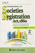 Commentary on Societies Registration Act 1860 With State Amendments Rules Model Forms and Allied Laws
