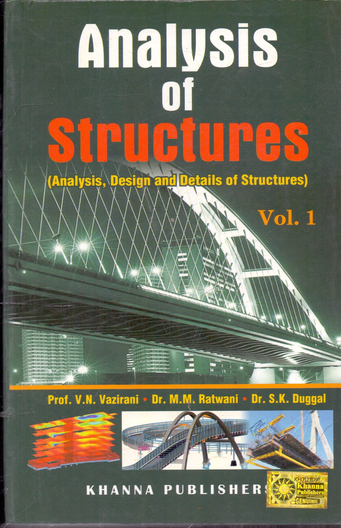 Analysis of Structures Vol l