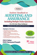 Students Handbook on Auditing and Assurance for CA Inter