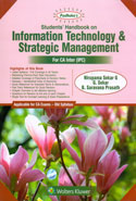 Students Handbook on Information Technology and Strategic Management for CA Inter IPC Old Syllabus