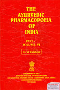 The Ayurvedic Pharmacopeia of India Part l Volume VI
