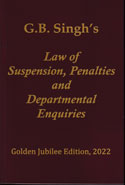 Law of Suspension Penalties and Departmental Enquiries