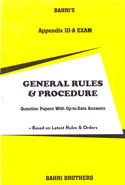General Rules And Procedure Question Papers With Up To Date Answers Appendix III A Exam