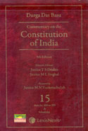 Commentary on the Constitution of India In 10 Vols Alongwith Consolidated Table of Cases and Subject Index