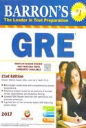 Barrons the Leader in Test Preparation GRE