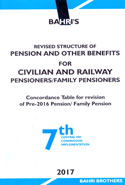 Revised Structure of Pension and Other Benefits for Civilian and Railway Pensioners Family Pensioners Concordance Table for Revision of Pre-2016 Pension Family Pension 7th Central Pay Commission Implementation