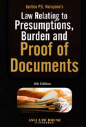 Law Relating to Presumptions Burden and Proof of Documents