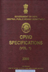 CPWD Specifications In 2 Vols With Correction Slip Alongwith E Book