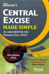 Central Excise Made Simple as Amended by the Finance Act 2016
