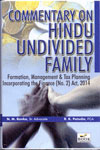 Commentary on Hindu Undivided Family Formation Management and Tax Planning Incorporating the finance No 2 Act 2014