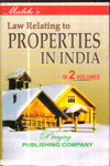 Law Relating to Properties in India (In 2 Vol)