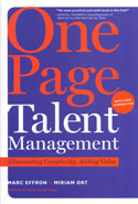 One Page Talent Management Eliminating Complexity Adding Value