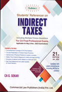 Students Referencer on Indirect Taxes for CA Final Professional for Nov 2020 Exams Applicable for CA Exams Old and New Syllabus
