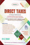 Direct Taxes a Ready Referencer for Tax Planning Tax Management Tax Administration for CA Exams Old and New Syllabus