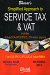 Simplified Approach to Service Tax and Vat Includes Solved CA IPCC PCC CS  Exam Papers