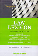 Law Lexicon Judicial Dictionary Alongwith Legal Maxims Computer Terminology and Medical Words and Phrases With Interpretation of Statutes In 2 Vols