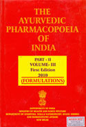 The Ayurvedic Pharmacopoeia of India Part II Volume III