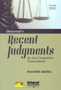 Recent Judgments For Law Competitive Examinations