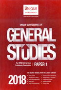 Unique Quintessence of General Studies for UPSC Civil Services Preliminary Examination Paper I 2018