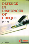 Defence In Dishonour of Cheque