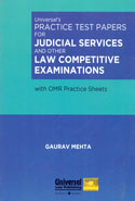 Practice Test Papers for Judicial Services and Other Law Competitive Examinations With OMR Practice Sheets
