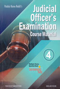 Judicial Officers Examination Course Material In 4 Vols