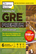 Cracking the GRE Premium 6 Practice Tests Included