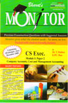 Monitor Previous Examination Questions With Suggested Answers CS Exec Module I Paper 2 Company Accounts Cost and Management Accounting