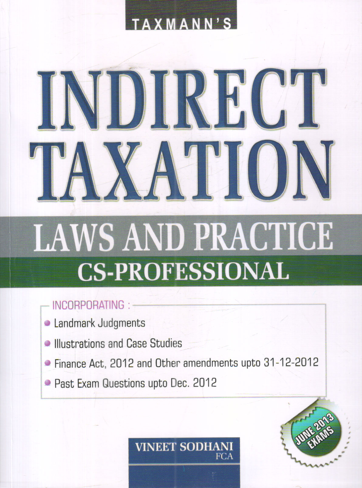Indirect Taxation Laws and Practice