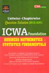 Unitwise Chapterwise ICWA Foundation Business Mathematics And Statistics Fundamentals