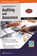 Simplified Approach to Auditing and Assurance for CA IPCC May 2019 Exams Applicable for Old Syllabus