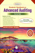 Students Handbook on Advanced Auditing for CA Final Old Syllabus