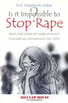 Is It Impossible to Stop Rape