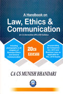 A Handbook on Law Ethics and Communication for CA Intermediate IPC May 2018 Exams