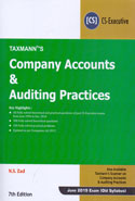 Company Accounts and Auditing Practices for CS Executive June 2019 Exam Old Syllabus