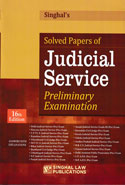 Solved Papers of Judicial Service Preliminary Examinations Answers With Explanations