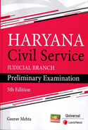 Haryana Civil Service Judicial Branch Preliminary Examination